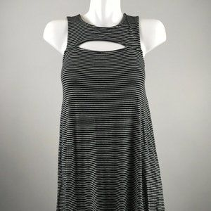 American Eagle Outfitters Black White Stripe Dress